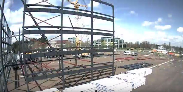 Construction of a new parking lot for the Amphia hospital in Breda – Timelapse
